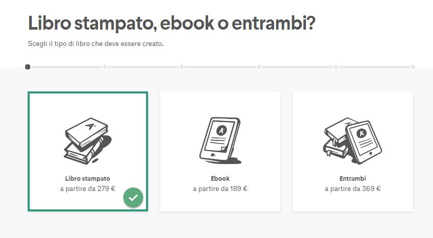 opzioni per il contest grafico della copertina del tuo libro